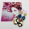 orecchini, blu, oro , cristalli