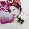 orecchini , monachina, agata, blu fiore oro