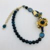 collana girocollo blu oro agata