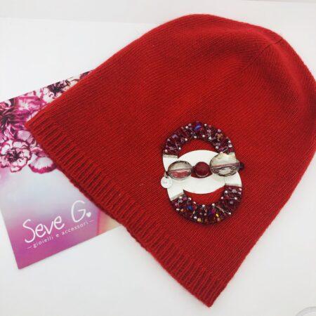 cappello rosso lava cashmere