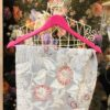 sciarpa, gioiello, damascato raso rosso carta da zucchero fiori