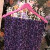 sciarpa animalier viola