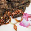 sciarpa ruggine oro bronzo resina paillette