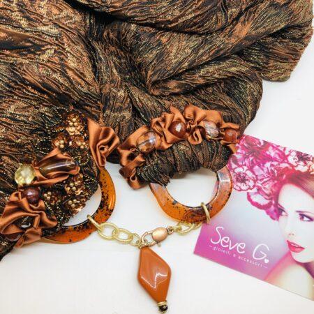 sciarpa gioiello origine bronzo oro rame