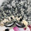 sciarpa girello panna nero raso