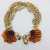 collana catene resina cristalli e perle
