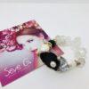 bracciale cristalli di rocca perle onice