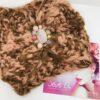 Fascia turbante rosa nocciola pietre quarzo cristalli