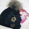 Cappellopon pon nero e oro anticato