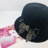 cappello , nero , lana, fiocco strass , raso