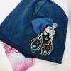 cappello blu, carta da zucchero con applicazione
