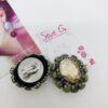 orecchini, bottone, clips, cristalli