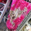 sciarpa, gioiello, sola, coppetta , rosa, fucsia, beige, pietre , cristalli